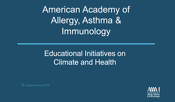 Educational Initiatives on Climate and Health