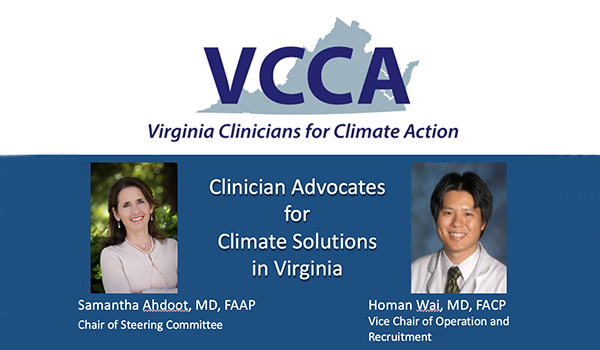 Clinician Advocates for Climate Solutions In Virginia
