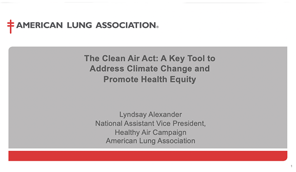The Clean Air Act: A Key Tool to Address Climate Change and Promote Health Equity