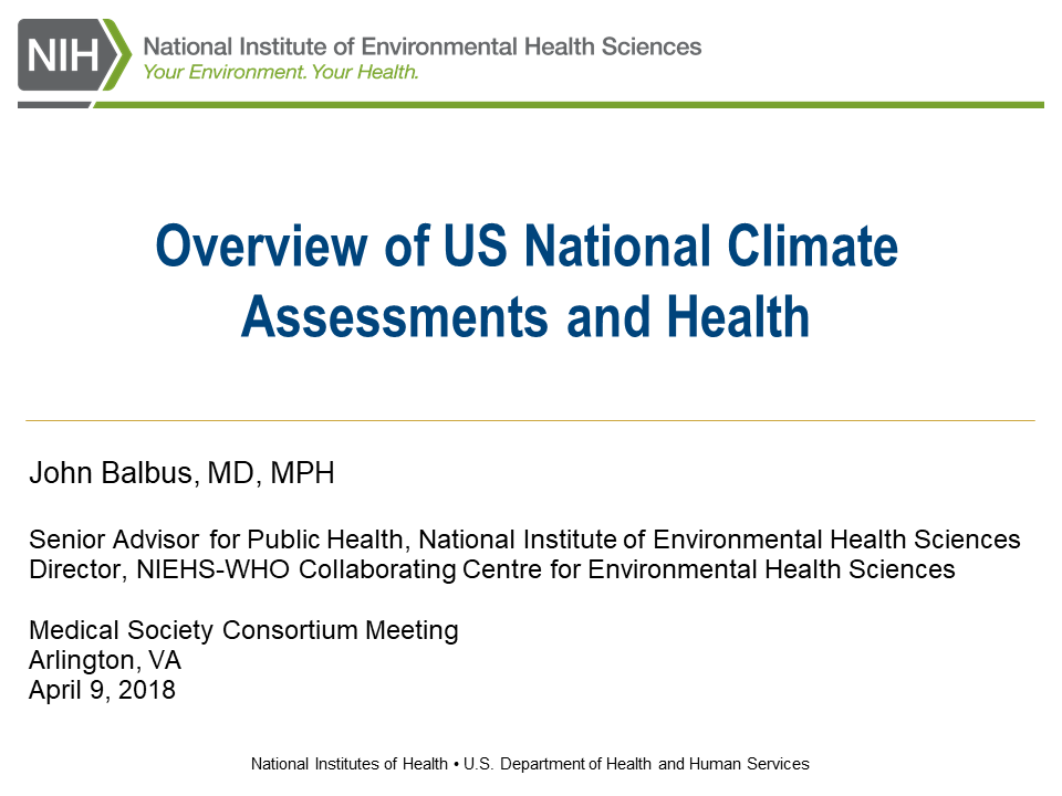 National Climate Assessment 2018