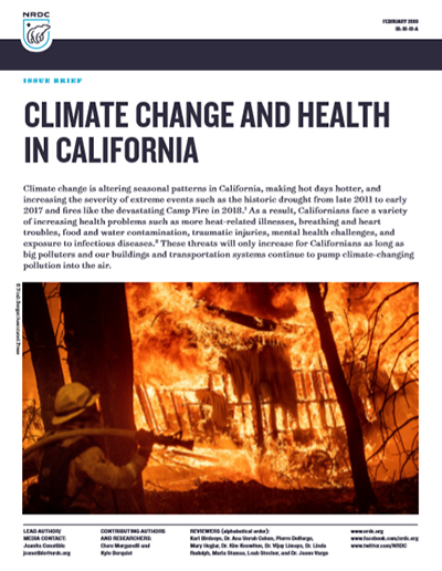 NRDC Issue Brief: Climate Change and Health in California