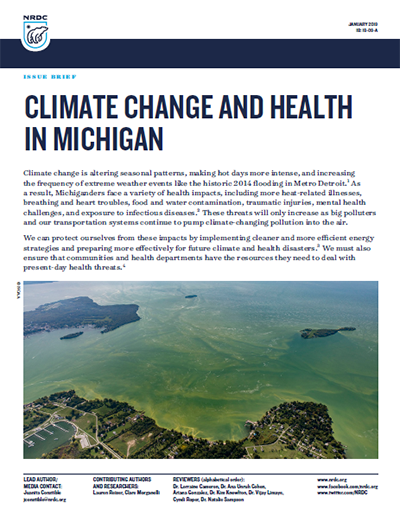 NRDC Issue Brief: Climate Change and Health in Michigan