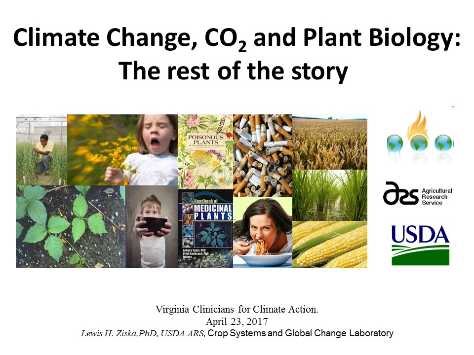 Climate Change, CO2, and Plant Biology: The rest of the story