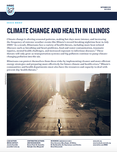 NRDC Issue Brief: Climate Change and Health in Illinois