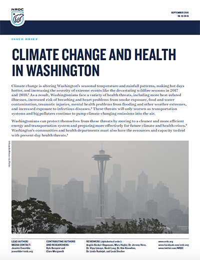 NRDC Issue Brief: Climate Change and Health in Washington