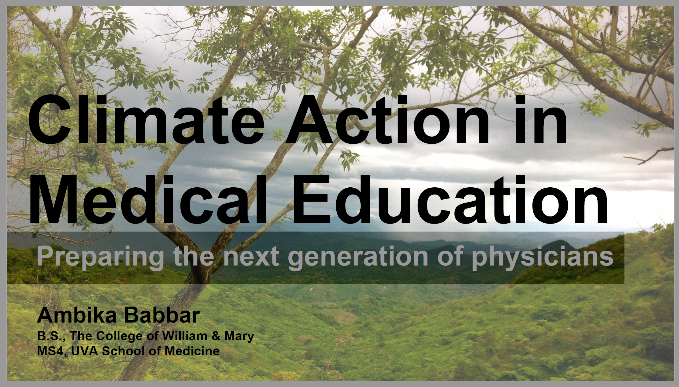 Climate Action in Medical Education: Preparing the next generation of physicians